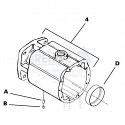 Carcasa motor MF 33/39/46